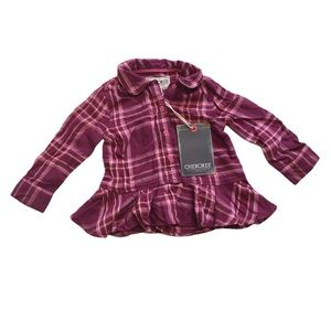 🧚‍♀️4/$25 NWT Cherokee Button-down Purple Shirt